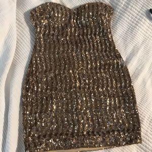 Arden B sexy gold dress size L